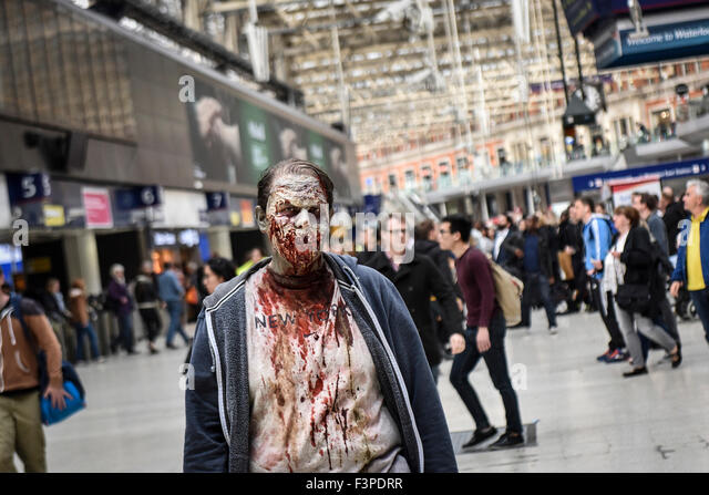 Zombies. The London Zombie Walk. - Stock Image