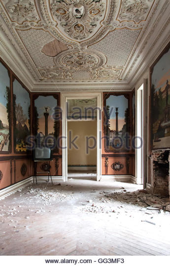 Old and abandoned historic building - Stock Image