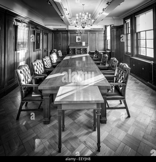 The historic boardroom of the Joshua Tetley headoffice, now part of the Tetley Gallery - Stock-Bilder
