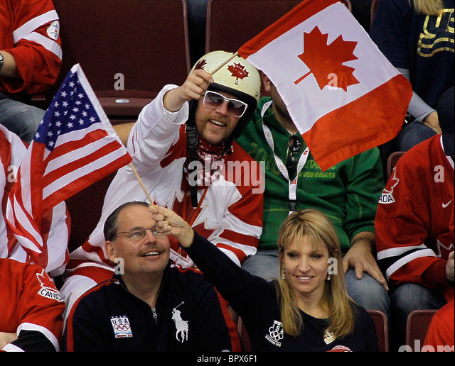 Vancouver 2010: men's ice hockey - Canada 3 - 5 USA - Stock Image