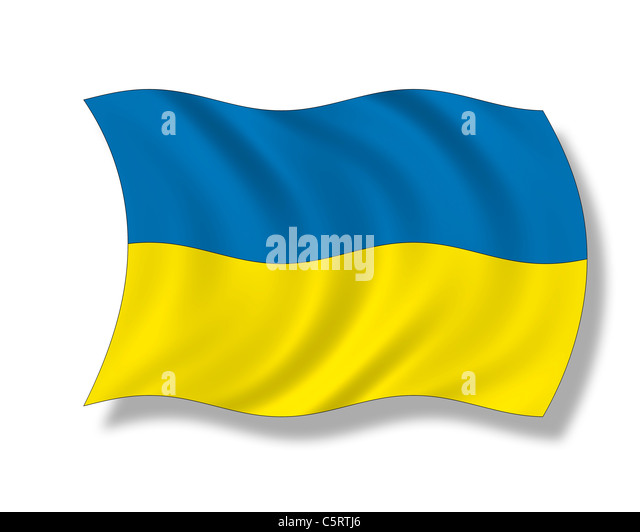 Illustration, Flag of the Ukraine - Stock Image