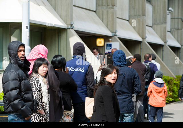 Immigration queue stock photos immigration queue stock images alamy - London immigration office ...