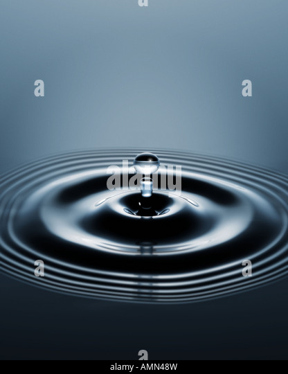 A ripple of water - Stock Image