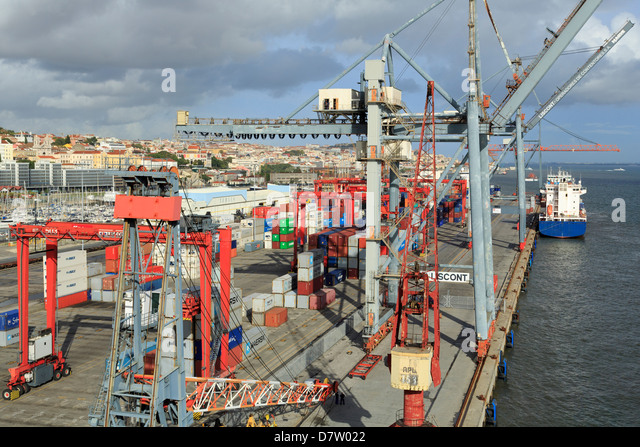 Santo Amaro Dock, Lisbon, Portugal - Stock Image