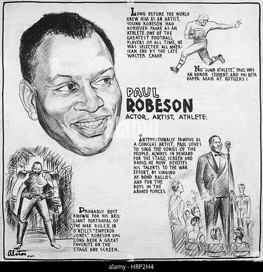 Paul Robeson, American Singer and Actor - Stock Image