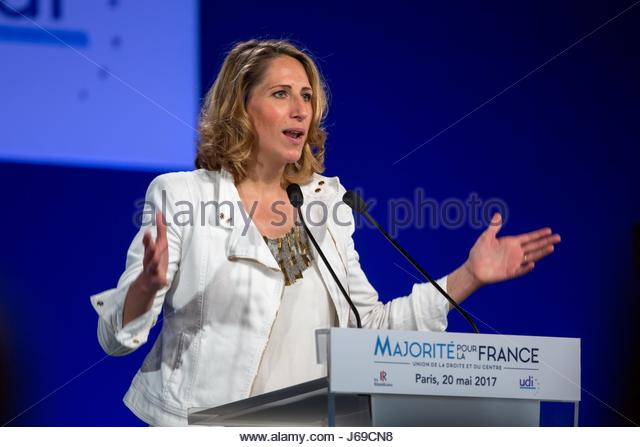 Paris, France. 20th May, 2017. French right-wing Les Republicains (LR) party member and former sailor Maud Fontenoy - Stock Image