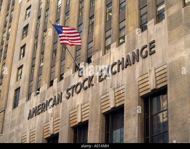 Der American Stock Exchange New York City Stockbild