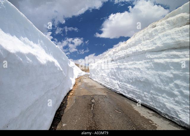 Straße in der Nähe von Mt. Lebanon Palette, Libanon Stockbild