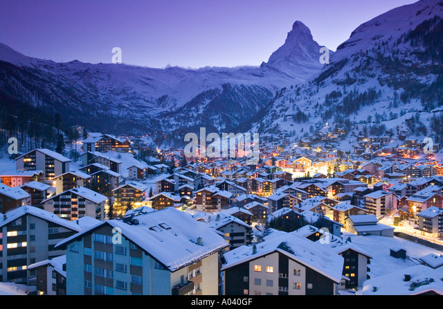 Zermatt, Wallis, Schweiz Stockbild