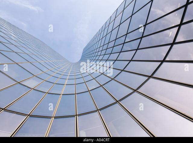 Skycraper, niedrigen Winkel Ansicht Stockbild