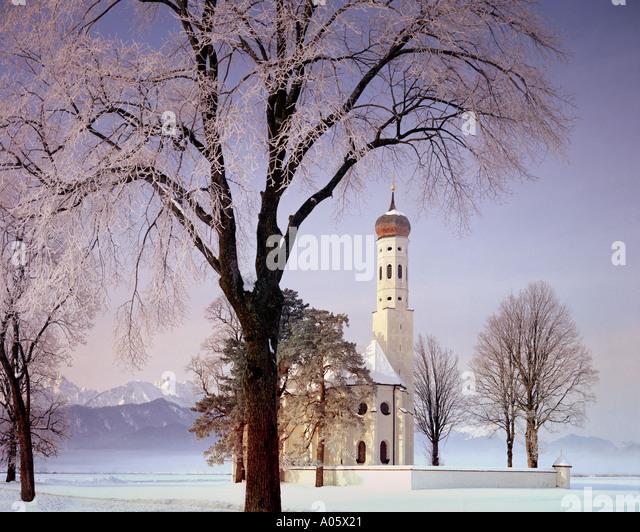 DE - Bayern: St. Coloman in der Nähe von Schwangau Stockbild