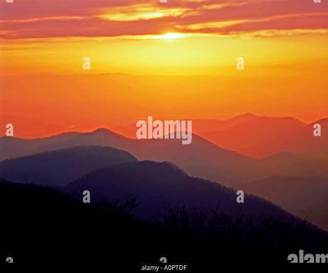Brasstown Bald Chattahoochee National Forest Georgien Stockbild