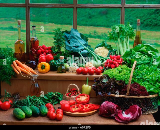 Verschiedene Arten von Gemüse Stockbild