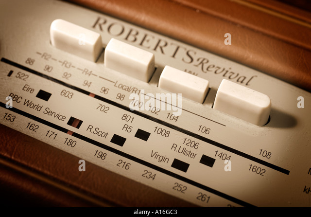 Retro-Roberts Radio Stockbild