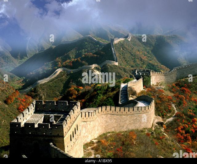 CN - Nord-CHINA: Die chinesische Mauer Stockbild