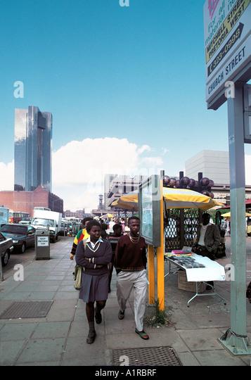 Church Street Pretoria Südafrika die längste Straße in Südafrika Stockbild