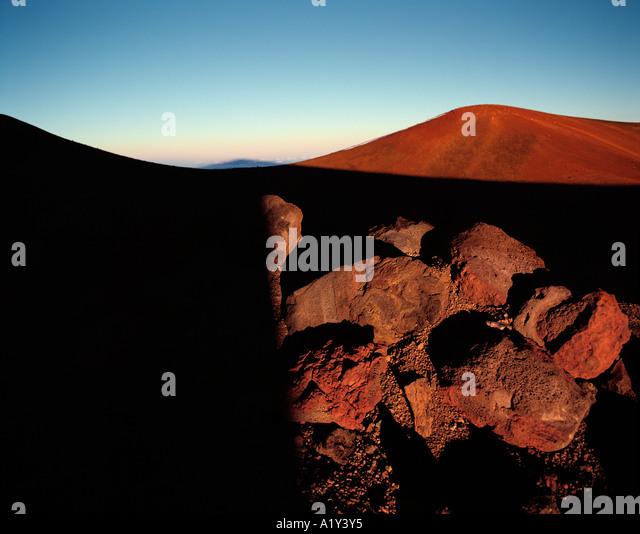 Gipfel des Mauna Kea, Hawaii. Stockbild