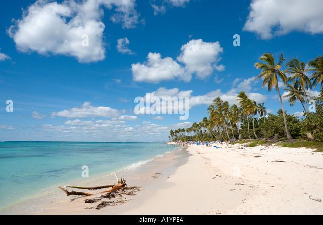 Strand von Bayahibe, Südküste, Dominikanische Republik, Caribbean Stockbild