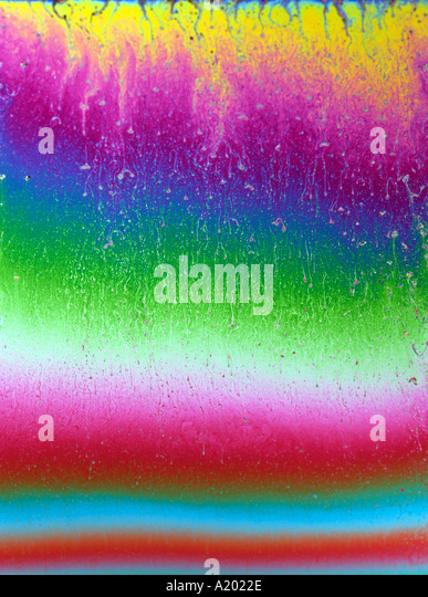 Farben in Seife Film version2 siehe auch A2022D Stockbild