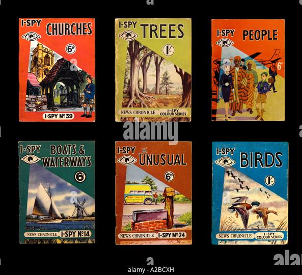 -Spy Bücher 1950s 1960s für nur zur redaktionellen Verwendung Stockbild
