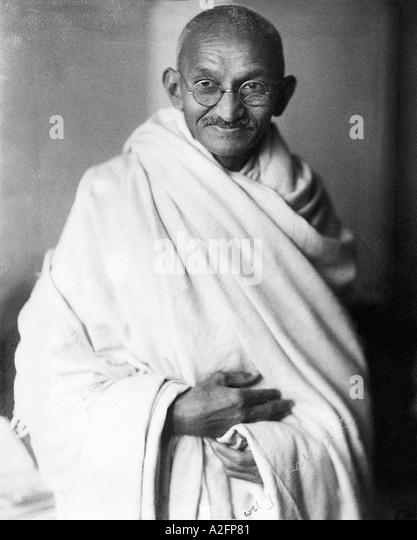 Seltene studio Foto von Mahatma Gandhi in London England UK auf Anfrage von Herrn Irwin 1931 - Mkg 33347 Stockbild
