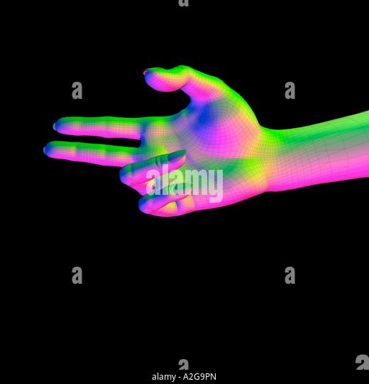 Modell-Hand Stockbild