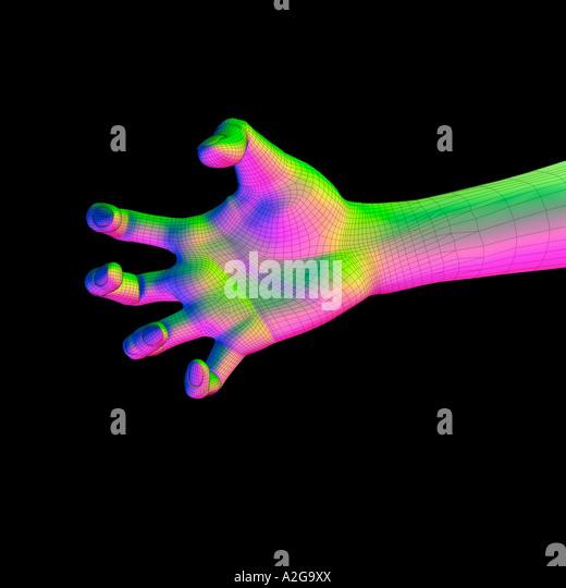 Modell Hand Kralle Stockbild