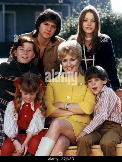 DIE PARTRIDGE Familie US-Fernsehserie mit Shirley Jones und David Cassidy oben links Stockbild