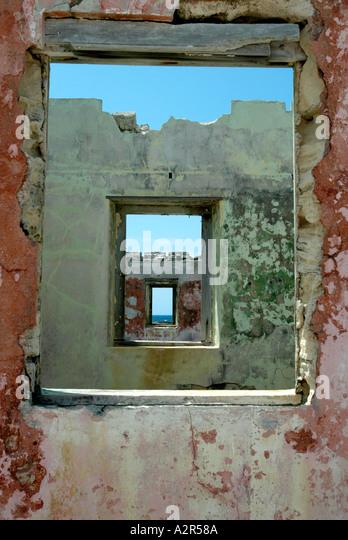 Altbauten auf Great Issacs Island Stockbild