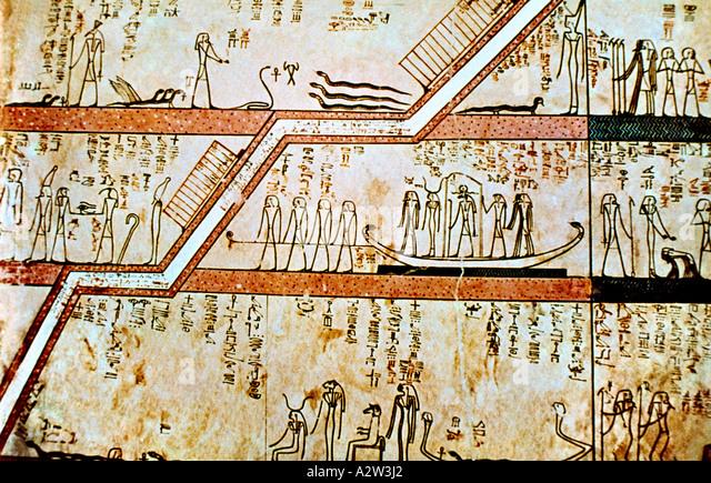 Ägypten-Malereien im Grab von Thutmosis III Theben Stockbild
