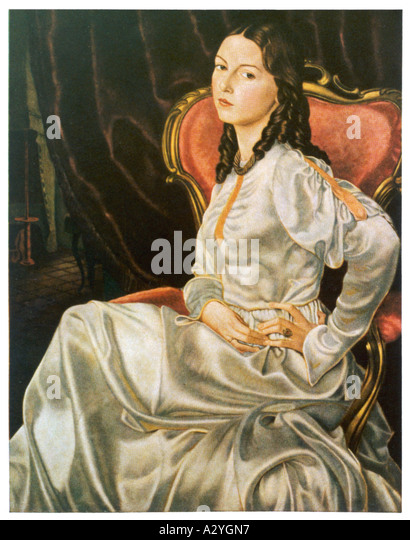 Deutsche Frau 1860 Stockbild