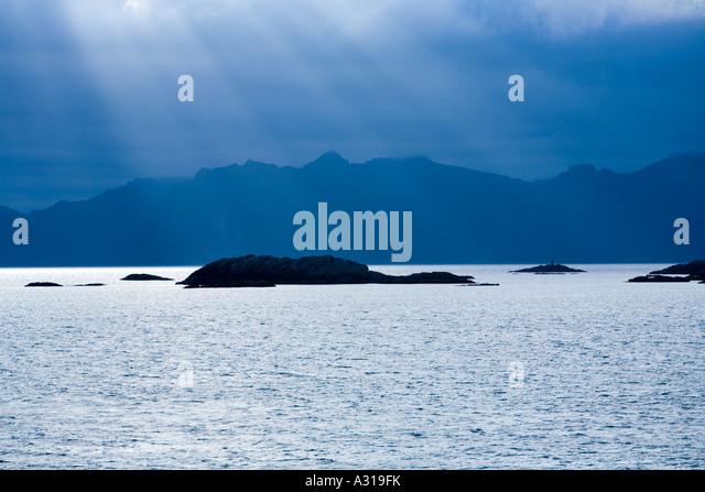 Die Lofoten-Inseln östlich von Stamsund Norwegen Stockbild