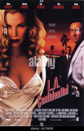 LA vertraulich Plakat für das Jahr 1997 Warner film mit Kim Bassinger und Kevin Spacey Stockbild