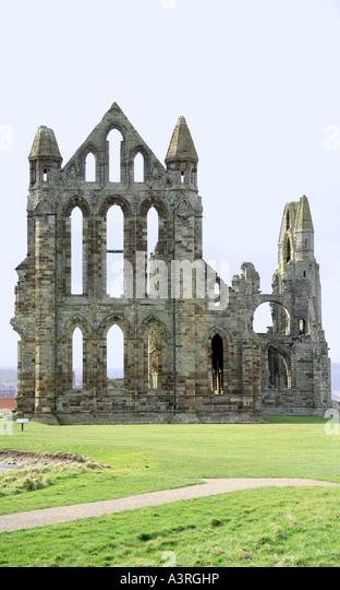 Historische Whitby Abbey Ruinen North Yorkshire Stockbild