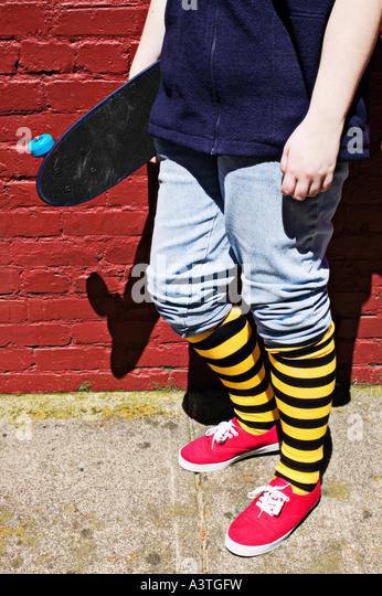 Skateboard-Mädchen Stockbild