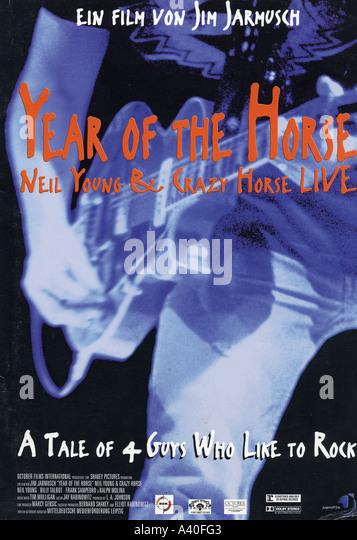 Jahr des Pferdes Plakat für das Jahr 1997 film Oktober Shakey Bilder über Musiker Neil Young Stockbild