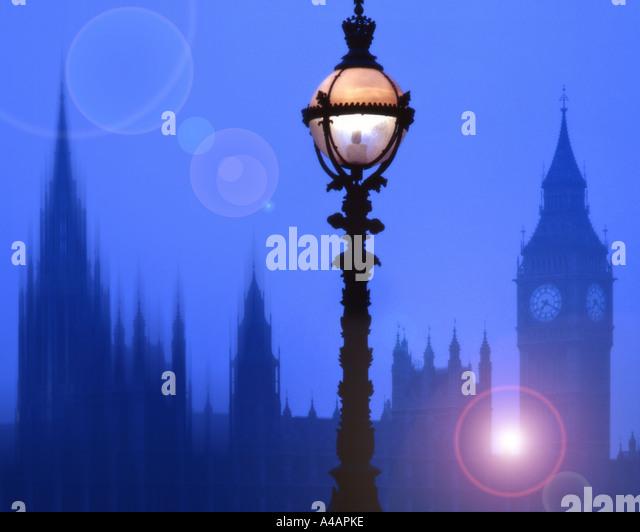 GB - LONDON: Houses of Parliament und Big Ben Stockbild