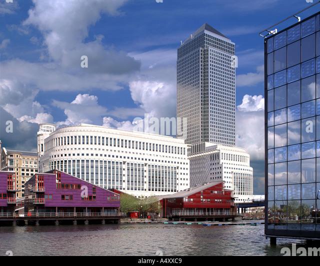 GB - CITY OF LONDON: Canary Wharf auf der Isle of Dogs Stockbild