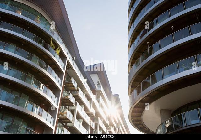 Moderne Wohnhäuser Stockbild