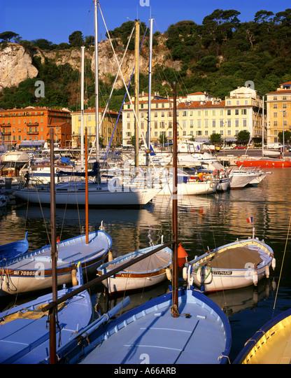 FR - COTE d ' Azur: der Hafen von Nizza Stockbild