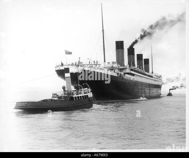 Belfast Titanic Blätter Stockbild