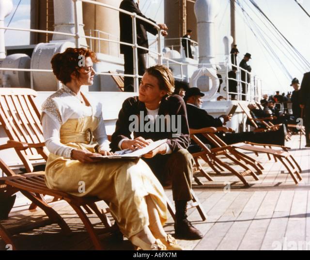 TITANIC-Oscar-prämierten 1997 TCF Film mit Leonardo DiCaprio und Kate Winslett Stockbild