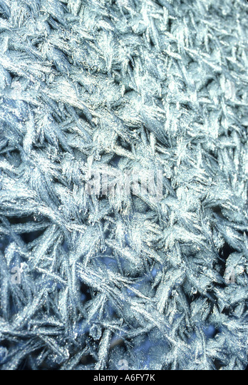 Frost auf Glas Stockbild
