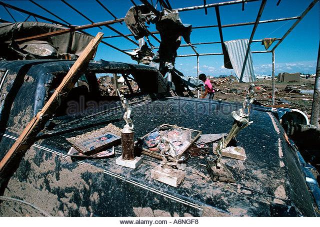 Persönliche Gegenstände von der Killer Saragosa Texas Tornado Katastrophe erholt 22. Mai 1987 Stockbild
