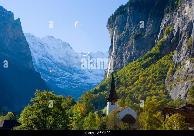 Schweiz Berner Obeland Staubbach fällt Lauterbrunnen Stockbild