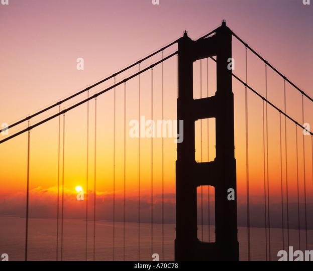 """Golden Gate Bridge"" 'San Francisco' Kalifornien USA Stockbild"