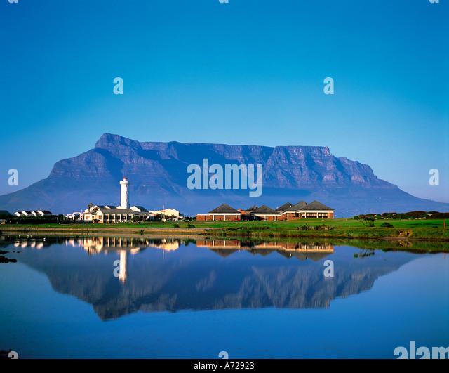 Table Mountain Kapstadt Provinz Western Cape Südafrika Stockbild