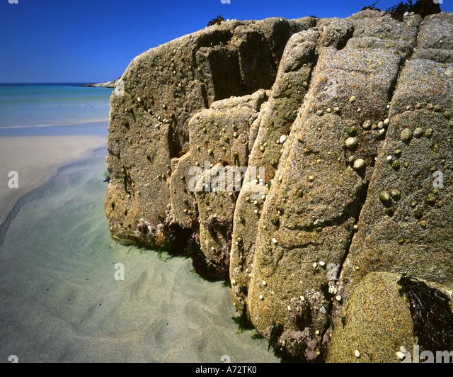 IE - CONNEMARA: Küste auf Omey Insel Stockbild