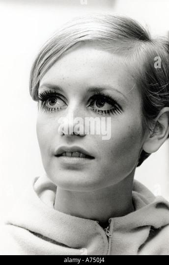 TWIGGY - UK-Mode-Modell tragen Design von Jeff Banks im Mai 1967.  Foto Tony Gale Stockbild