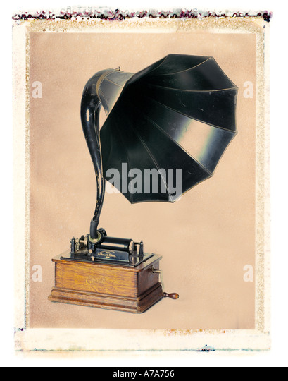 Antike Phonographen Stockbild